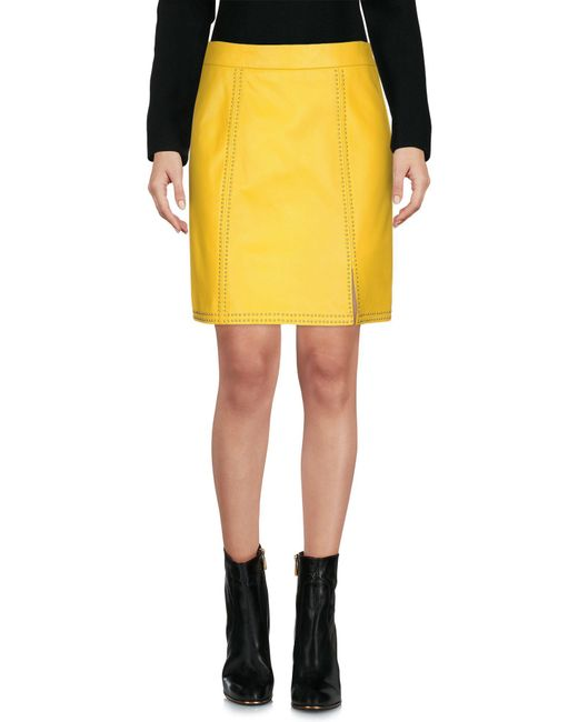 Boutique Moschino - Yellow Mini Skirt - Lyst