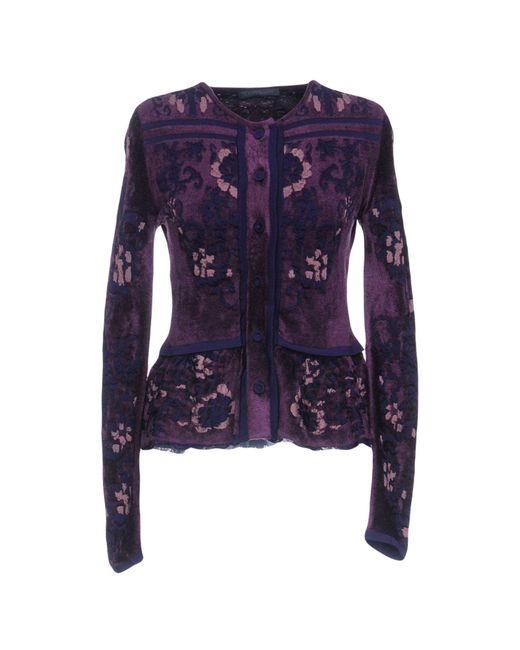Alberta Ferretti - Purple Cardigans - Lyst