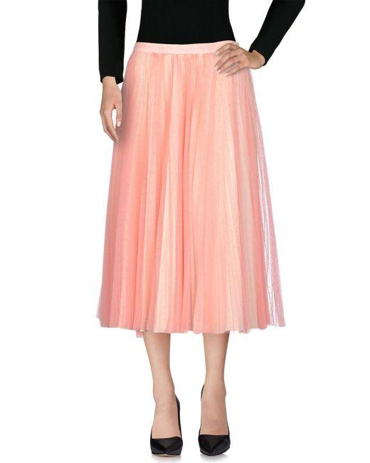 Philosophy Di Lorenzo Serafini - Pink 3/4 Length Skirt - Lyst