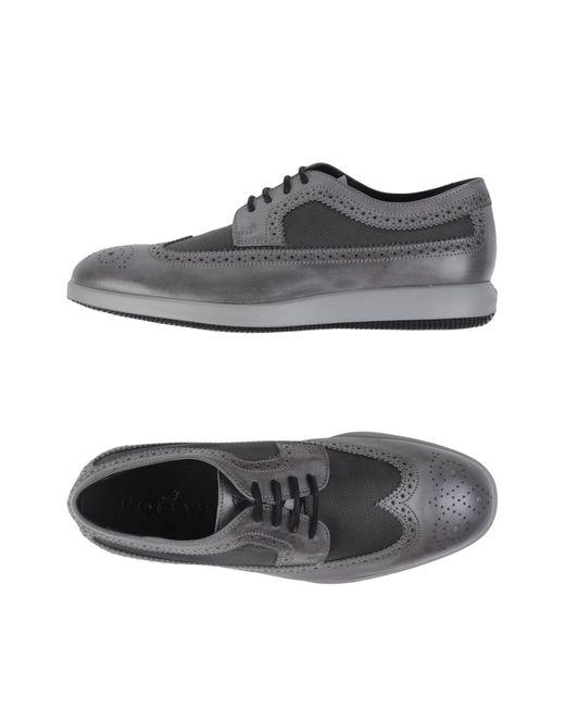 Chaussures à lacets Hogan pour homme en coloris Gray