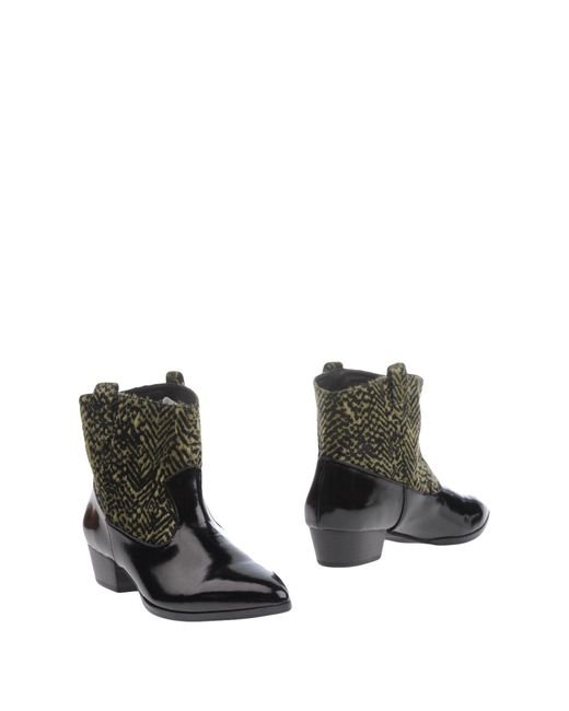Silvian Heach - Black Ankle Boots - Lyst