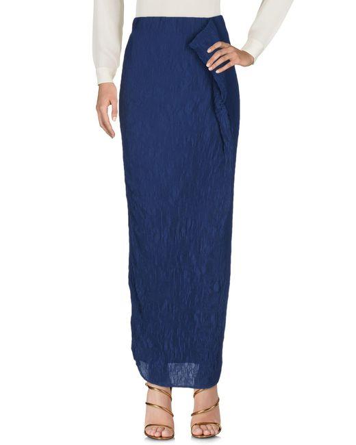 INTROPIA - Blue Long Skirt - Lyst