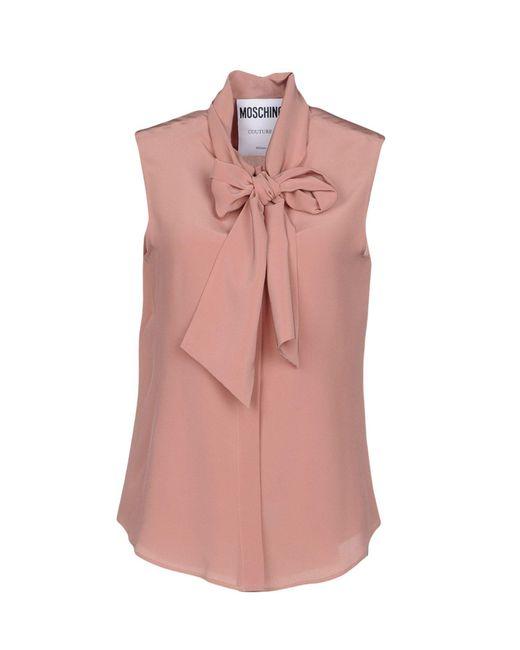 Moschino - Pink Shirts - Lyst