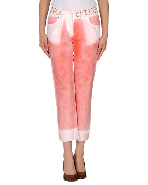 Guess - Red 3/4-length Trousers - Lyst