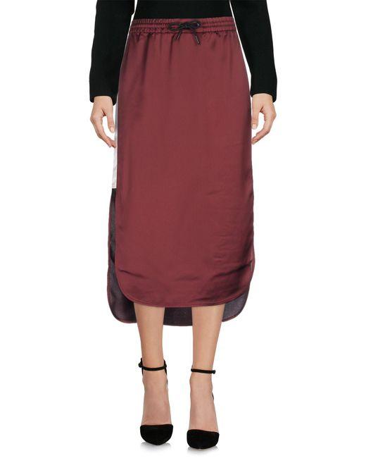 T By Alexander Wang - Purple 3/4 Length Skirts - Lyst
