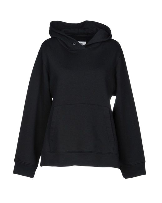 MM6 by Maison Martin Margiela - Black Sweatshirt - Lyst