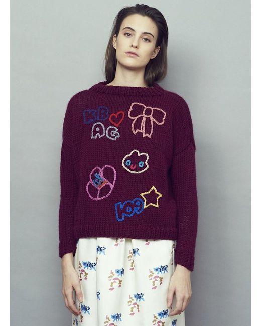 Paola Rodriguez - Purple Ella Hand-knit Jumper - Last One - Lyst