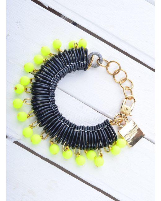 Longshaw Ward - Bracelet In Black/neon Yellow - Last One - Lyst