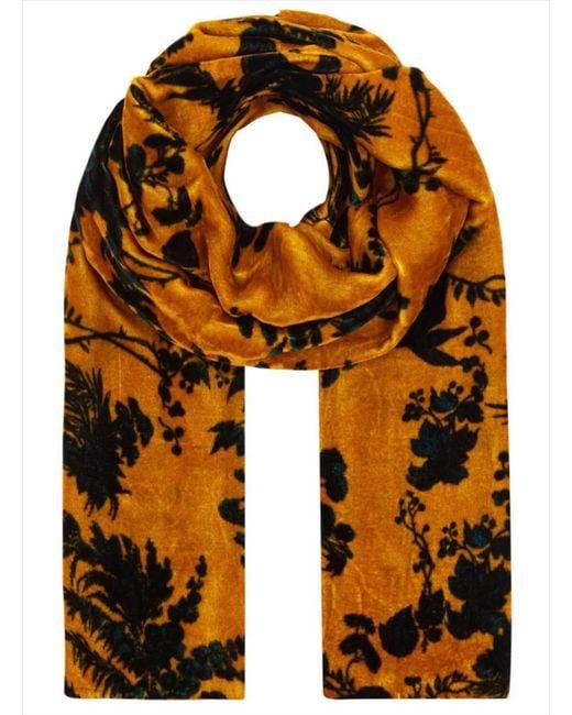 Klements - Multicolor Long Velvet Scarf In Garden Puppet Design - Lyst