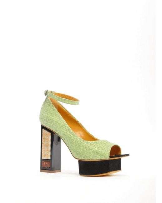 Joanne Stoker - Green Lotus Platform Sandal - Last One - Lyst