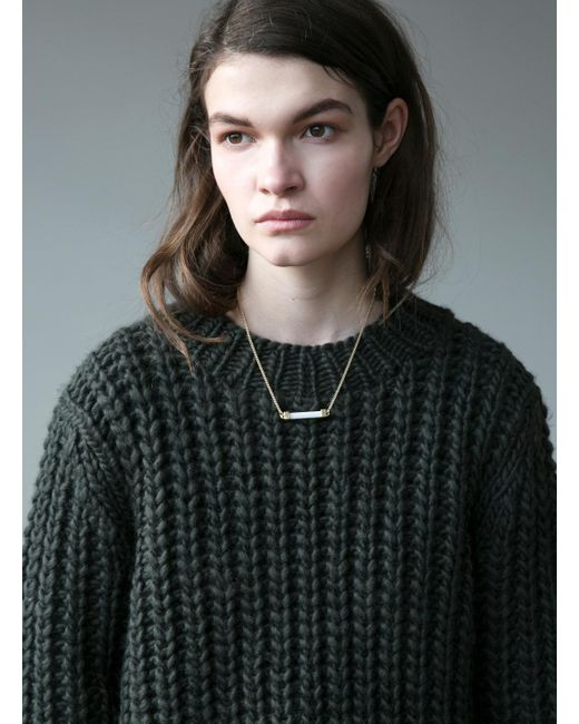 Kelly Love | Cactus Green Knit | Lyst