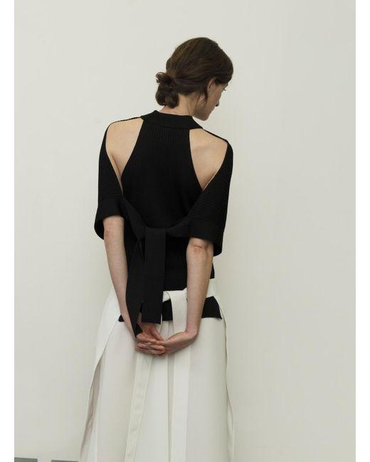 Eudon Choi | Isle Black Turtleneck Top With Shoulder Detail - Last One | Lyst