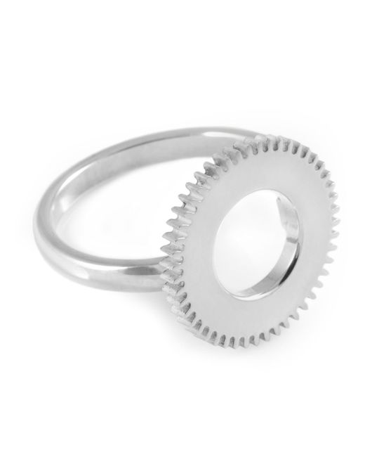 Clarice Price Thomas | Metallic Silver Centre Of Time Ring | Lyst