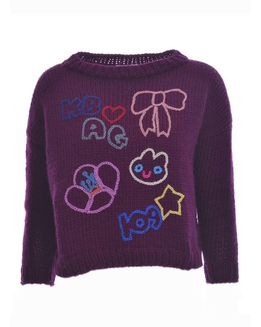 Paola Rodriguez - Purple Ella Hand-knit Jumper - Lyst