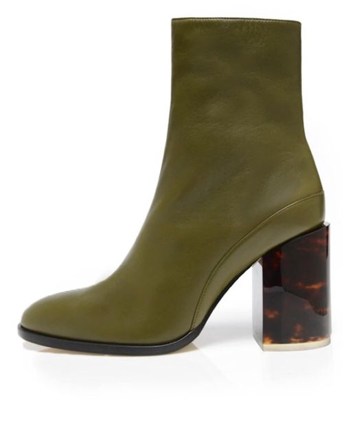 Dear Frances - Green Spirit Boot In Olive/tortoise (limited Edition) - Lyst