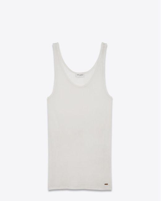 Saint Laurent - White Ivory Tank Top - Lyst