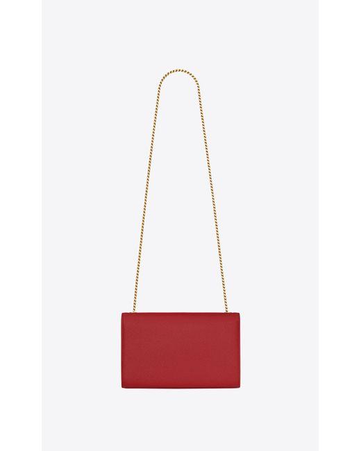 b49f8fdc62d8 ... Saint Laurent - Classic Medium Kate Monogram Textured-Leather Satchel -  Lyst ...