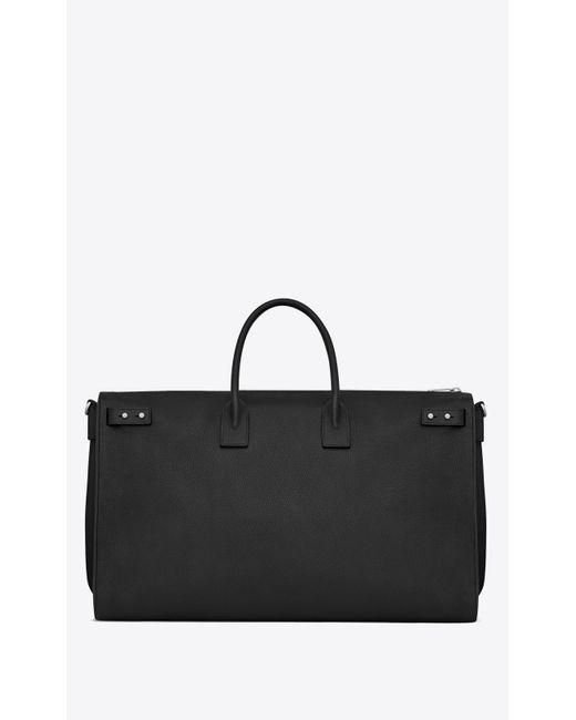 ab9c4a0eeda9 ... Saint Laurent - Black Sac De Jour 72h Duffle Bag In Grained Leather for  Men ...