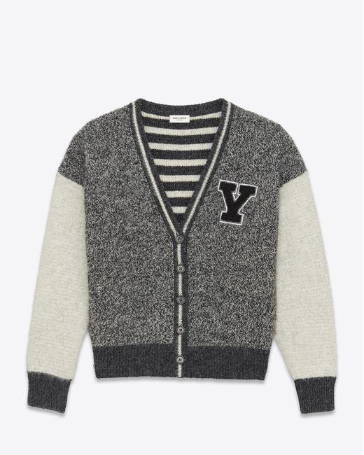 Saint Laurent | Gray Knitwear Tops for Men | Lyst