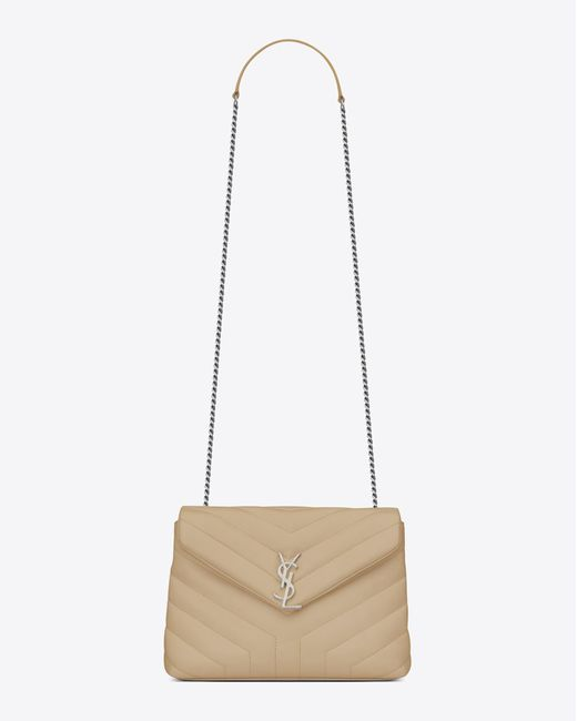 Saint Laurent | Multicolor Small Loulou Monogram Chain Bag In Powder | Lyst