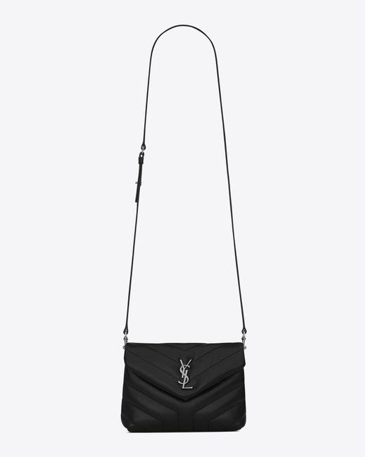Saint Laurent Toy Loulou Strap Bag In Black Quot Y Quot Matelass 233