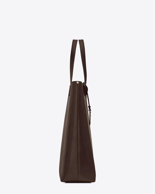 Saint Laurent - Brown Bold sac shopping en cuir vintage et logo perforé for Men - Lyst