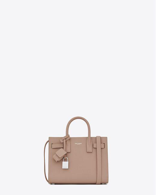 Saint Laurent | Multicolor Classic Nano Sac De Jour Bag In Antique Rose Grained Leather | Lyst