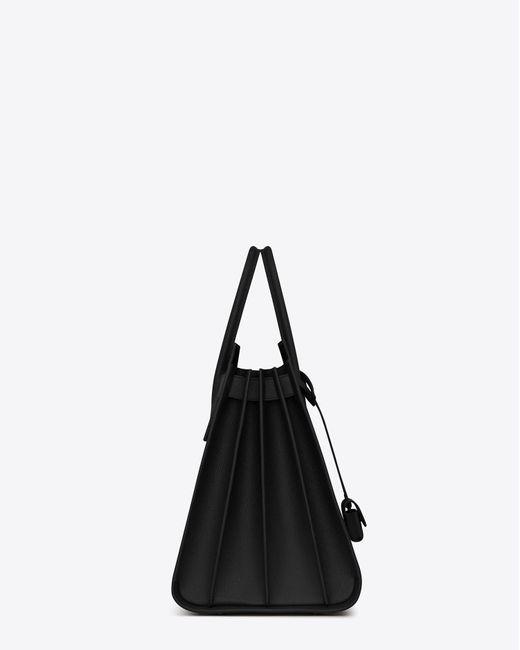 Saint Laurent - Black Grand sac de jour carry all en cuir grainé for Men - Lyst