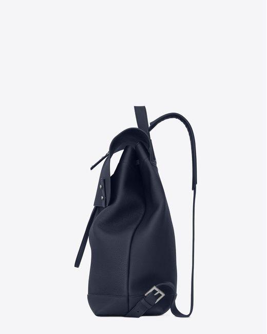 Saint Laurent - Blue Sac de jour sac à dos en cuir grainé for Men - Lyst