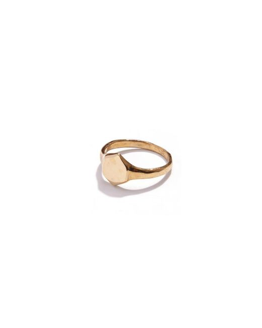 Odette New York | Metallic Brass Signet Ring | Lyst