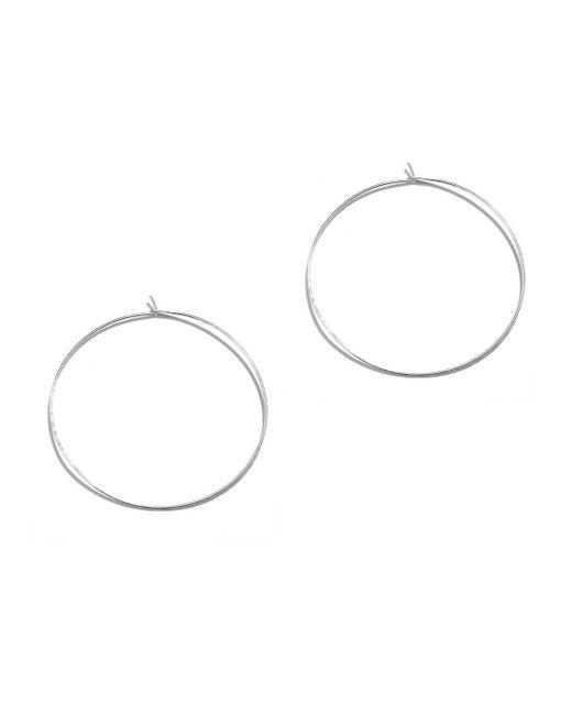 Phyllis + Rosie | Metallic Hammered Hoop Earrings - Silver | Lyst