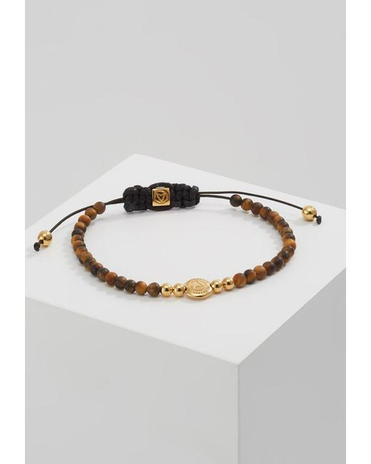Northskull | Metallic Logo Disk Macrame Bracelet Bracelet for Men | Lyst