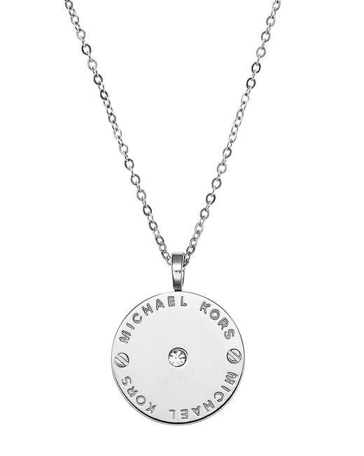 Michael Kors   Metallic Logo Necklace   Lyst
