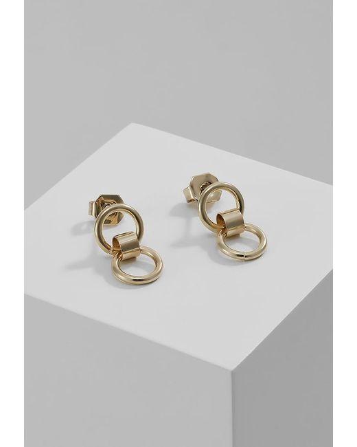 Whistles   Metallic Double Circle Mini Stud Earrings   Lyst