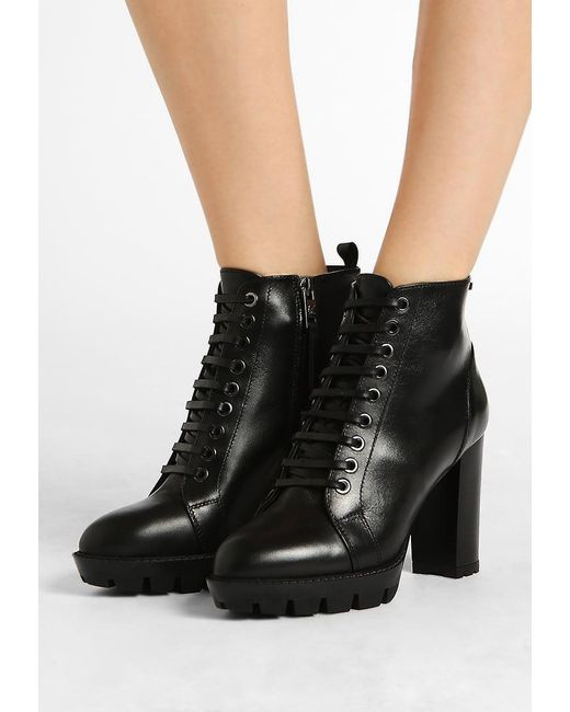 Karl Lagerfeld | Black Voyage Midi Lace-up Boots | Lyst