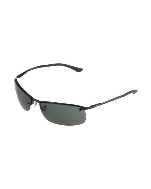 ... Ray Ban | Black Top Bar Sunglasses For Men | Lyst ...