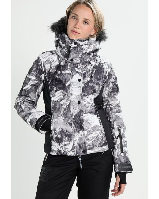Superdry | Gray Snow Puffer Snowboard Jacket | Lyst