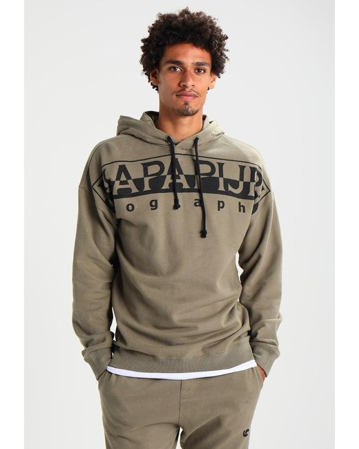 Napapijri | Green Badstow Loose Fit Hoodie for Men | Lyst