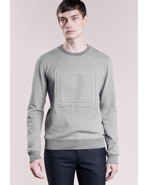 BOSS Orange | Gray Wack Sweatshirt for Men | Lyst