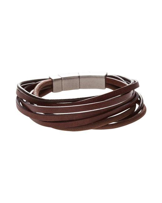 Fossil   Brown Vintage Casual Bracelet for Men   Lyst
