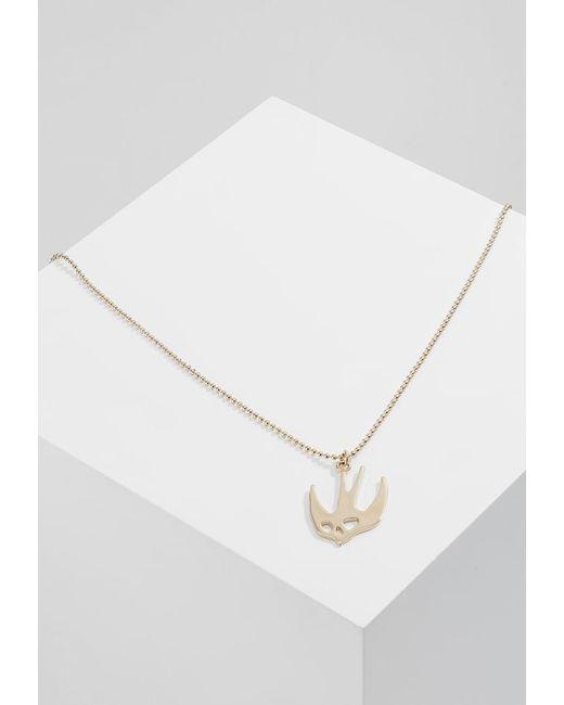 McQ Alexander McQueen | Metallic Swallow Pendant Necklace | Lyst