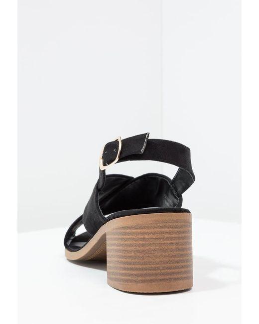 New Look   Black Pap Sandals   Lyst