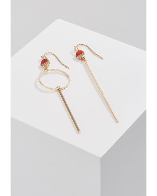 Pieces | Metallic Noma Earrings | Lyst
