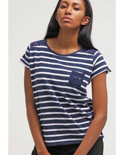 Superdry | Blue Super Sewn Print T-shirt | Lyst