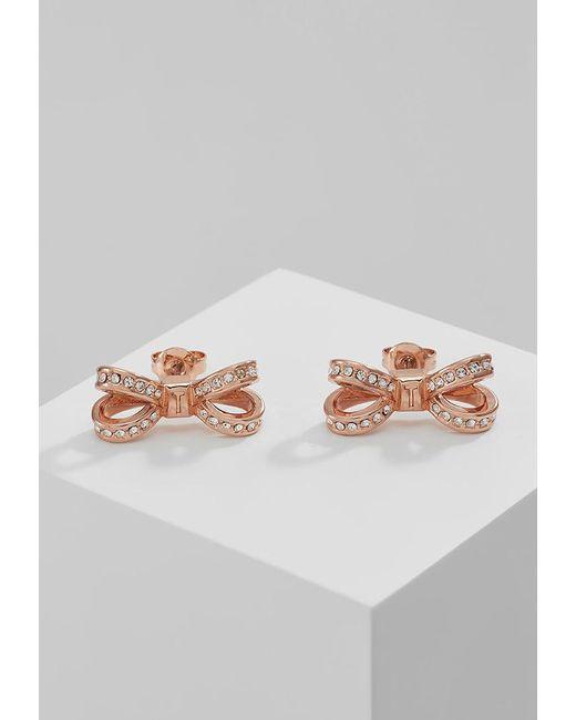 Ted Baker   Metallic Olitta Mini Opulent Pav Bow Earrings   Lyst