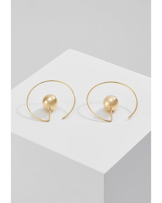 Whistles | Metallic Sphere Loop Earrings | Lyst