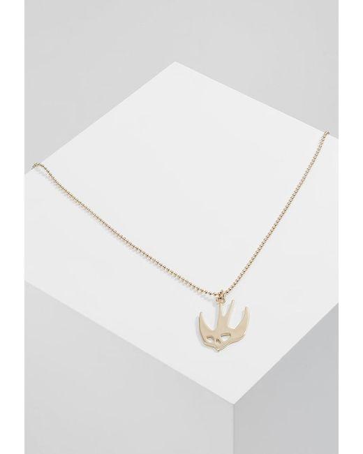 McQ Alexander McQueen   Metallic Swallow Pendant Necklace   Lyst