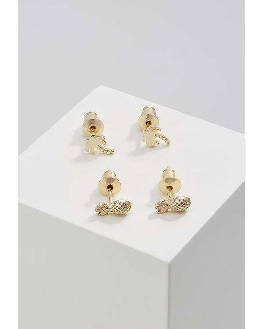 Orelia | Metallic 2 Pack Earrings | Lyst