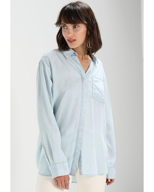 Weekday | Blue Big Fluid Super Shirt | Lyst