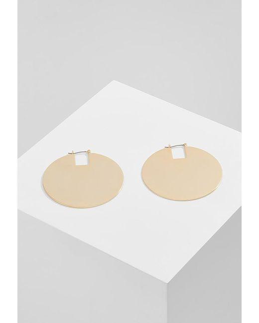 Whistles | Metallic Statement Flat Disc Hoop Earrings | Lyst